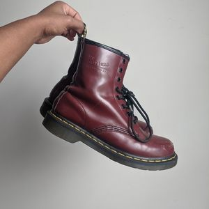 Dr Martens 1460 Smooth Leather Cherry Red